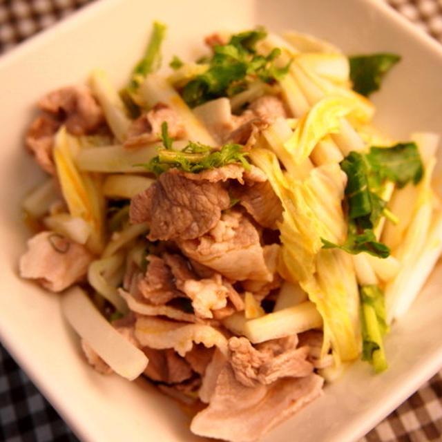 白菜と豚シャブのサラダ 〜1月の野菜〜