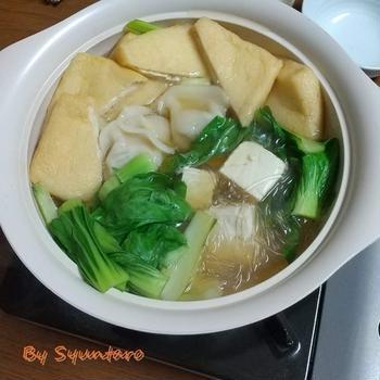 【簡単・鍋スープ】ヒガシマルの牡蠣だし醤油を使って『常夜鍋』