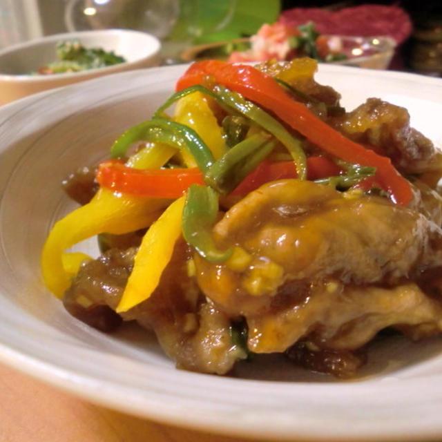 黒酢酢豚*うす切り肉&彩り夏野菜で♪