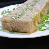 ゼラチンなしで作る、手羽元のひよこ豆とオリーブ入りパテ風