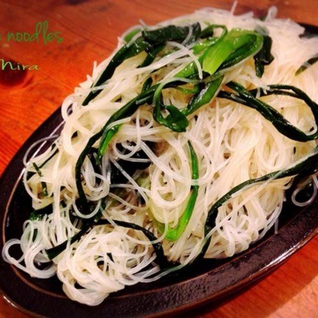 にらビーフン〜♪ 一応ダイエット風ぅ〜?!夕飯のとある日(^^)&梅やニラは旨い!