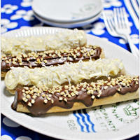 冷やして美味しいチョコバナナ風スティックパンケーキ