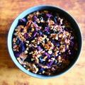 【おせちリメイク】黒豆と紫芋のケーキ