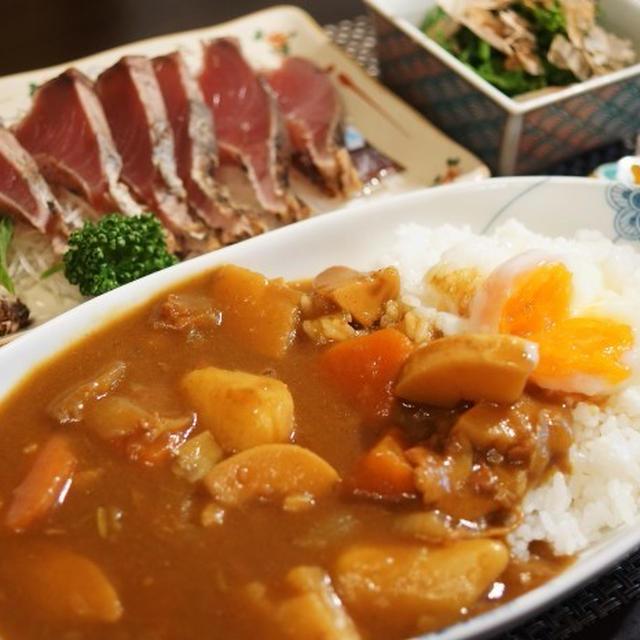 ■【お野菜ゴロゴロ 竹の子入りポークカレーの晩ご飯セット】