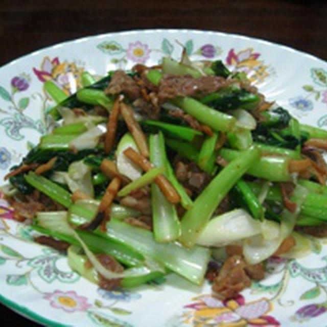 ター菜と豚肉の中華炒め