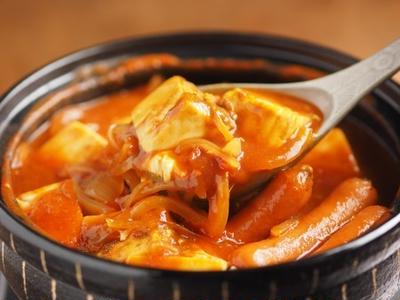 カレー豆腐鍋 、 トマト水煮缶詰と玉ねぎで節約レシピ