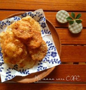 余りご飯と片栗粉でおせんべい♪桜海老入り〜甘め醤油味〜