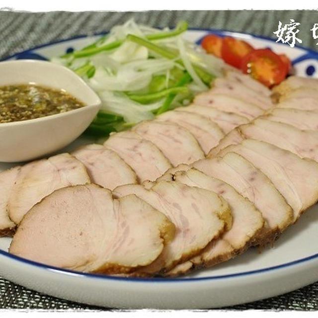 タレが決め手!柚子胡椒風味。豚ブロック肉の紅茶煮!