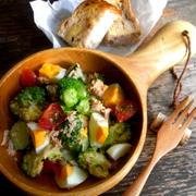 【簡単!作り置きサラダ】ブロッコリーとゆで卵の和風ツナマヨサラダ