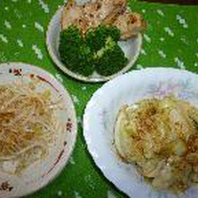 塩麹で鶏むね肉、キャベツなどの野菜のナムル風