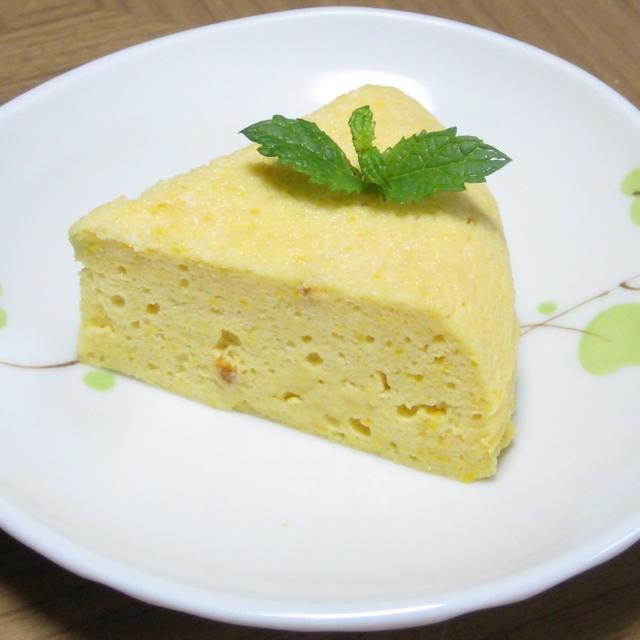 炊飯器deかぼちゃのチーズケーキ(水切りヨーグルト)