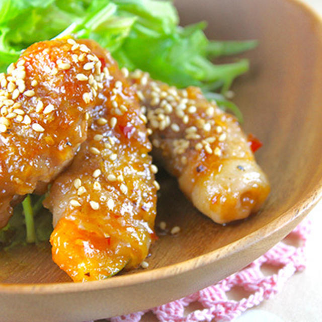 私史上最高のレシピ完成♡豚カボチャのピリ辛照り焼き《簡単★節約★常備菜★作り置き★お弁当》
