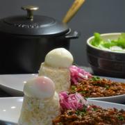 ストウブで「無水鶏キーマカレー」ハンディーミニチョッパーが便利です!