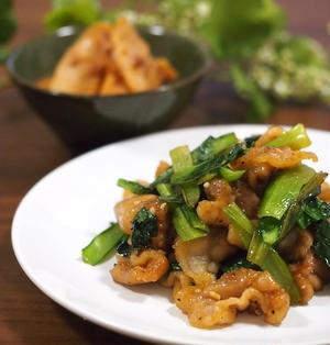 小松菜と豚肉のスタミナ炒め