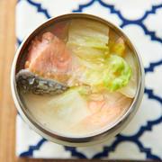 地味だけど美味しい!【鮭と白菜のみそバタースープ】【めかぶスープ】#スープジャー