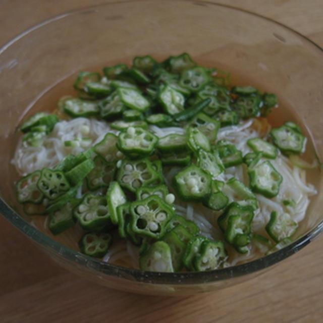 オクラ素麺