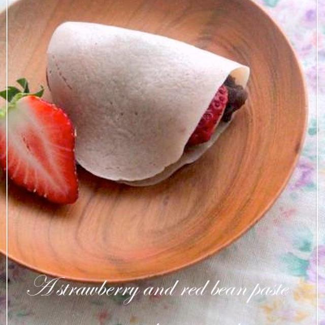苺パウダーで作る苺餅☆
