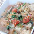 節約満足レシピ!!すっきりトマトの春雨パンスープ