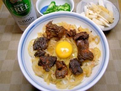 【お土産】牛スジ佃煮の丼