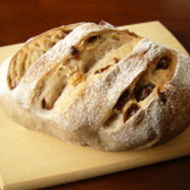きのうのおつまみ  くるみとレーズンのパン