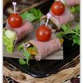 焼き野菜のローストビーフ巻き