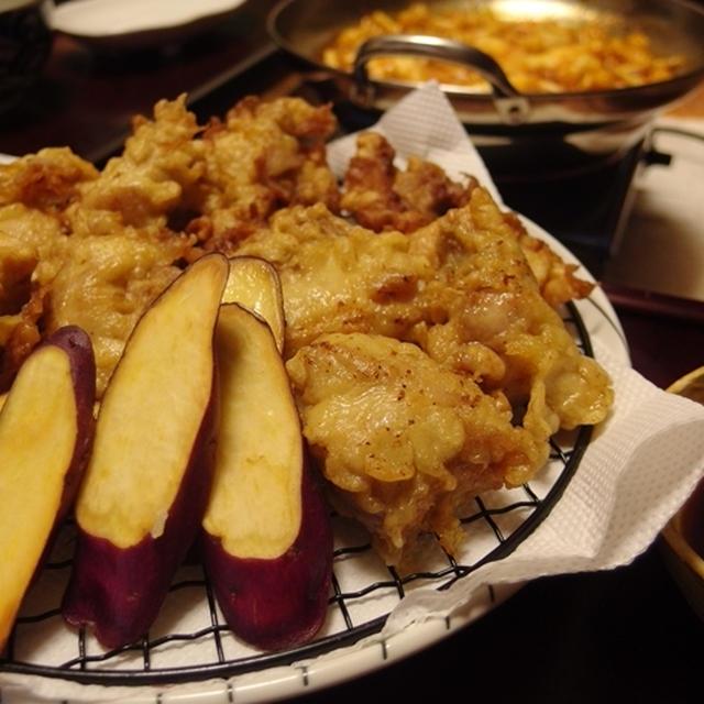 ヒガシマルで簡単!とり天・五郎島金時とかぼちゃのグリルサラダ
