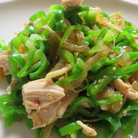 鮮やかピーマンと中華キクラゲの簡単サラダ