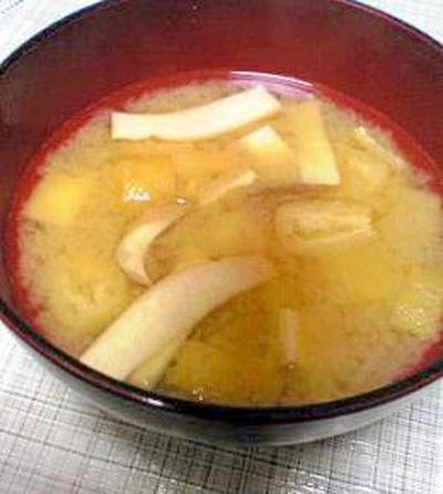 エリンギとお揚げのお味噌汁