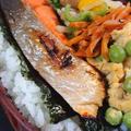 鮭と残り物弁当