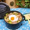 かき混ぜてガッツリ食べて!豚肉とキャベツの味噌味丼