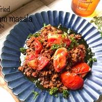 トマトと挽肉のガラムマサラ炒め♡