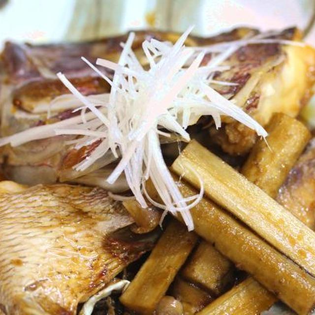 鯛のあら煮と湯豆腐