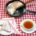 スキレットで作る、「バナナのパンケーキ」。 HM(ホットケーキミックス)で簡単!朝食にもおやつにもぴったり!