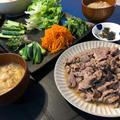 家族で楽しく♪『 和風焼き肉の手巻き寿司』