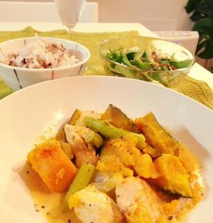 あのローラのレシピ♪ かぼちゃと鶏肉のクリーム煮