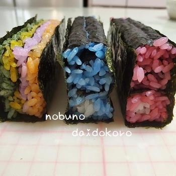 こいのぼりの巻き寿司♪