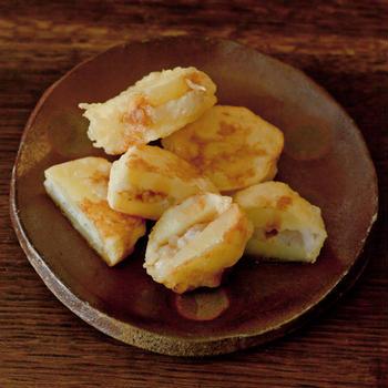 ちょこっと余ったおかゆは天ぷらに、、、