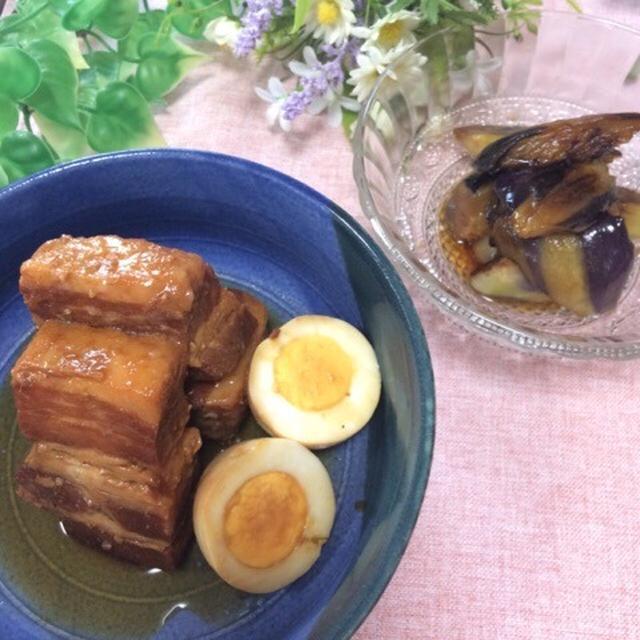 豚の角煮、なす南蛮、910円!
