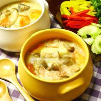 寒い日に心も体もポッカポカ☆ 根菜にきのこたっぷり♪ホワイトシチュー ハーブ・スパイス・圧力鍋・シチュー料理 -Recipe No.1439-