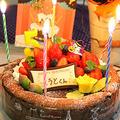 5歳のバースデーケーキ☆ガトーショコラベリー by ぱおさん