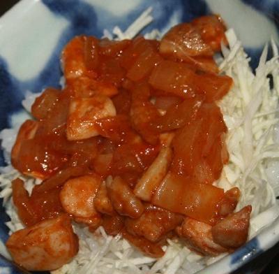 10月9日  鶏の チリケチャ丼