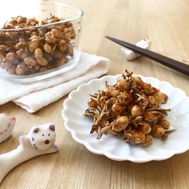 余った福豆で、カリカリじゃこ大豆(田作り)