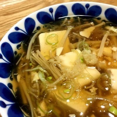 豆腐とえのきの和風あんかけ