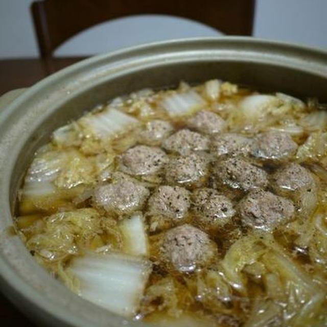 冬の定番!肉団子と白菜の鍋♪