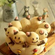 * 雪だるま ♥ ミルクちぎりパン♪