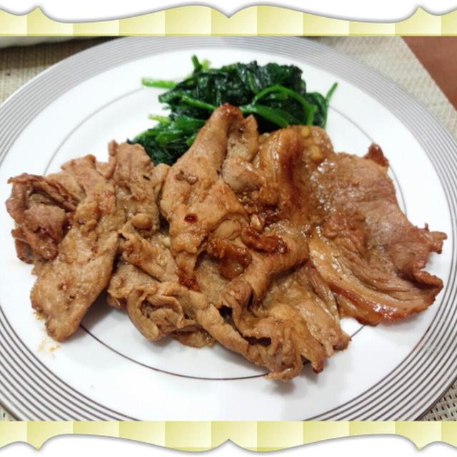 麺つゆとチューブの生姜で手軽に美味しく作れる、豚肉の生姜焼き