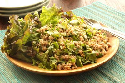 連載更新♪今月のスパイスブログは『タイ風ひき肉のスパイシーサラダ、ラープ』