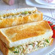 サラダの新たな活用術!?「〇〇サラダのホットサンド」レシピ