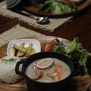 魚介と白菜のクリームシチュー・プレート。