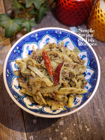 スパイスで手軽に楽しもう♪人気のアジアン料理をおうちで!【ジャガイモとタマネギのスパイシーエスニック炒め